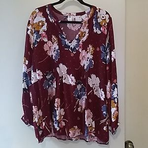 Old Navy Floral Tunic Blouse